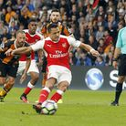 Arsenal's Alexis Sanchez misses penalty during the Premier League match at the KCOM Stadium, Hull.