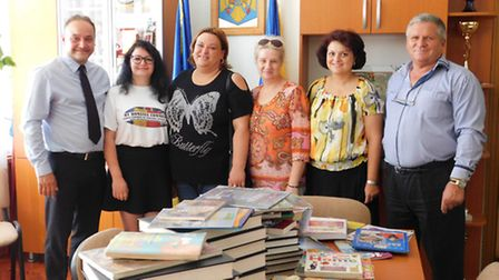 10 boxes of educational books were filled by Newman Catholic College and Brent Library, for children