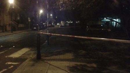 The scene of the stabbing in Cambridge Avenue (Pic: Twitter@MPSBrent)