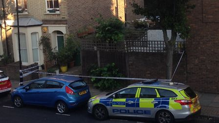 Police in Moray Road following last night's attack (Picture: James Scott)