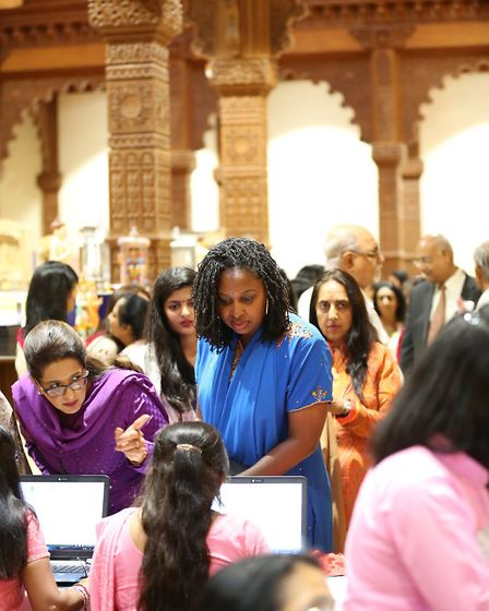 Dawn Butler MP joined dignitaries to pay tribute to Pramukh Swami Maharaj, the spiritual leader of t