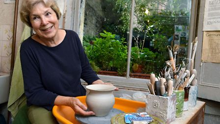 Valerie Rees at her Trident Pottery workshop in Caledonian Road. Picture: Polly Hancock