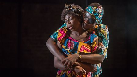 Joan Iyiola and Anna-Maria Nabirye in They Drink It In The Congo. Picture: Marc Brenner