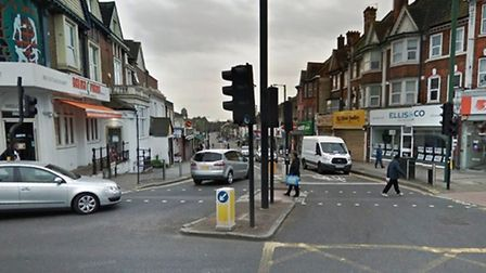 The woman was hit by a car on Ealing Road at the junction of Wembley High Road (Pic: Google)