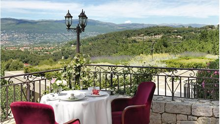 Enjoy spectacular views from Le Mas Candille's terrace