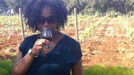 Lorraine tries a glass of red wine on St Honorat Island