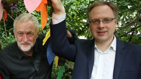 Jeremy Corbyn and Islington Council leader Richard Watts at a Gillespie Park celebration in May. Pic