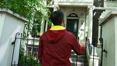 Richard at the former care home building in Grosvenor Avenue, Highbury, where he was abused as a chi