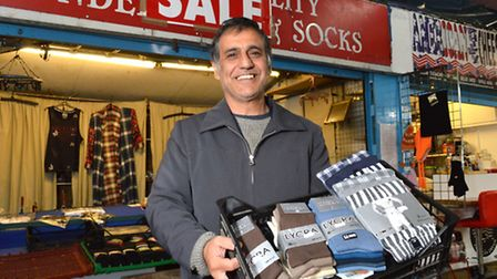 Ali Rifat is closing his underwear stall at the Nag's Head Market after 25 years. Picture: Polly Han
