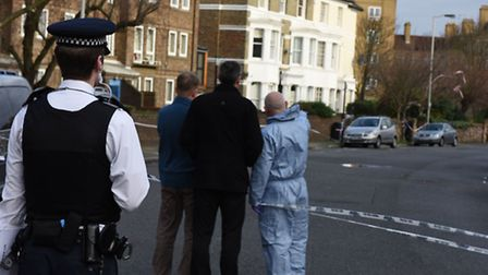 The scene in Hilldrop Crescent where Dr Ensink was stabbed to death. Picture: Ken Mears