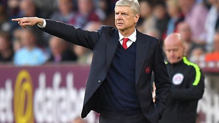 Arsenal manager Arsene Wenger on the touchline at Burnley on Sunday. Pic: Dave Howarth/PA Wire