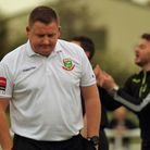 Gary McCann looks on with frustration after Hendon lost at the weekend (Pic:DBEECHPHOTOGRAPHY)