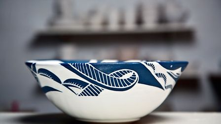 Bowl by Gregory Tingay at the Dartmouth Park Pottery