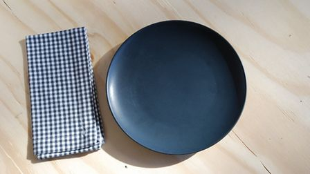 Linum Bjork dinner plate in black, £24 from The Peanut Vendor