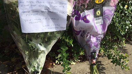 Flowers at the scene in Wembley (Pic: Nathaie Raffray)