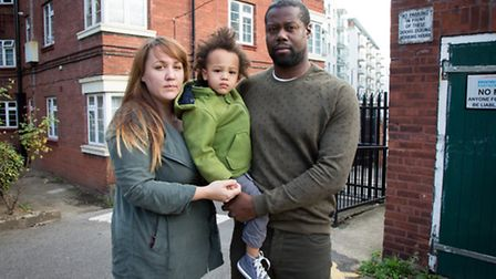 Gemma Hutton with partner Anthony Raymond and their son Noah
