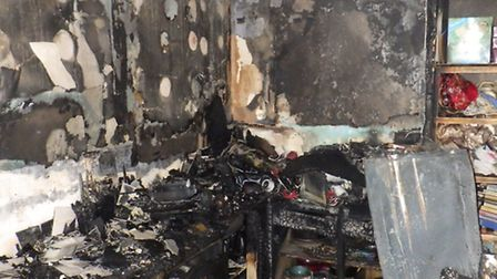 Damage from the Shepherd's Bush fire caused by the faulty tumble dryer. Picture: London Fire Brigade