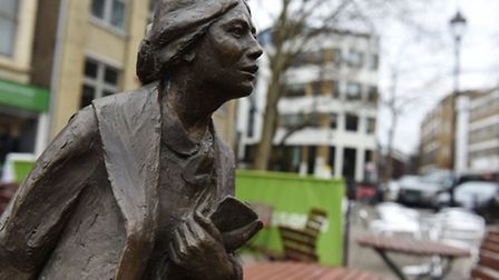 There will be a break in Clerkenwell Green  where a campaign to get a statue of Sylvia Pankhurst bu