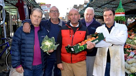 Chapel Market traders Tony Jones, John Hardie, Dave Twydell, Dave Jackson and Gary Curtis. Picture: