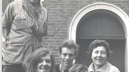 John Wright, Lyndie Wright, Christopher Leith, Ronnie le Drew and Joyce Wre at Little Angel Theatre.