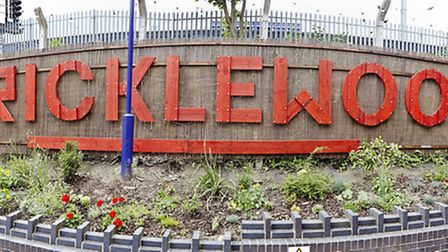 The welcome sign outside Cricklewood Station (Pic: Thomas Ball)