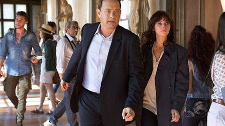 Tom Hanks and Felicity Jones star in Inferno. Picture: Columbia Pictures/Jonathan Prime