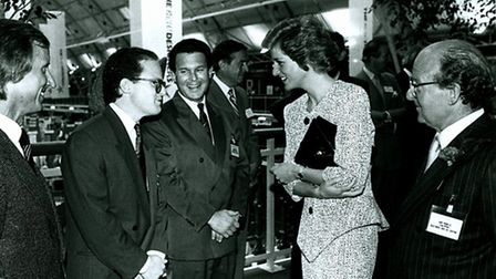 Princess Diana visits the Business Design Centre in Islington in 1988. Picture: Business Design Cent