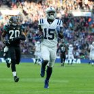 Indianapolis Colts' Phillip Dorsett runs in to score his side's third touchdown of the game during t