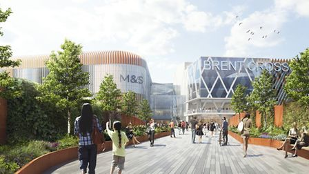 A new living bridge will be built that leads to the shopping centre