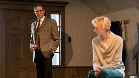 Mark Strong and Elizabeth Debicki in The Red Barn. Picture: Alistair Muir