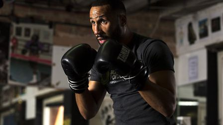 James DeGale during a media day at Stonebridge Boxing Club, London.