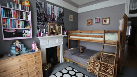 Bedroom belonging to Shanah age 18 and Bridie age 16, N London. Photo by Kyna Gourley
