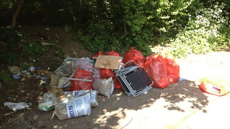 Andrei Victor Crasi dumped this rubbish in Kingsbury (Pic: Brent Council)