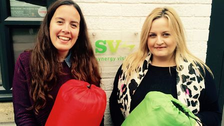 Caroline Brown and Simmone Gardiner have launched #donateasleepingbag from their Queen's Park office