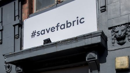 The iconic Farringdon club replaced its sign with an advert for the #savefabric campaign in the wake