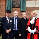Islington North MP Jeremy Corbyn with veterans, servicemen and councillors at the Manor Gardens unve