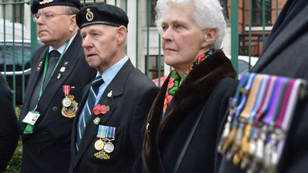 The Manor Gardens Battle of the Somme plaque unveiling on Friday. Picture: Polly Hancock