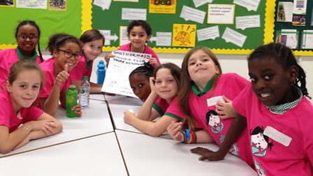 Newington Green Primary School students during a Mini Mermaids running club session.