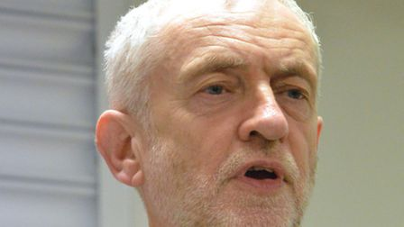 Islington North MP Jeremy Corbyn speaks at a public meeting on the future of the Holloway Prison sit