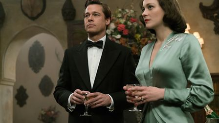Brad Pitt plays Max Vatan and Marion Cotillard plays Marianne Beausejour in Allied from Paramount Pi