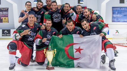 The Hockey Algeria squad finished third in the inaugural African Club Cup this year. Picture: Said M