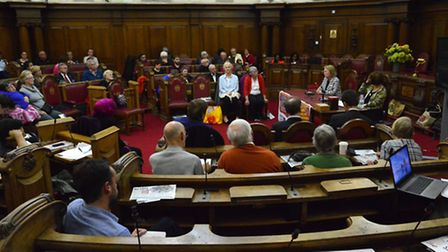 One hundred people attended last night's town hall 'Islington Keep Our NHS Public' meeting - includi