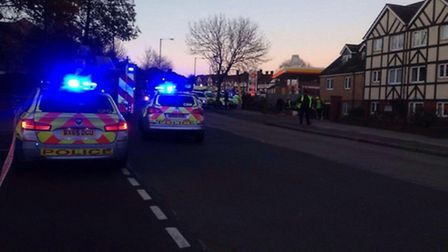Three children were taken to hospital after a collision with a car outside Sudbury Primary School