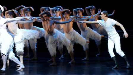 Dominic North as the prince in Matthew Bourne's 'Swan Lake' perform at Sadler's Wells. Picture: Zak