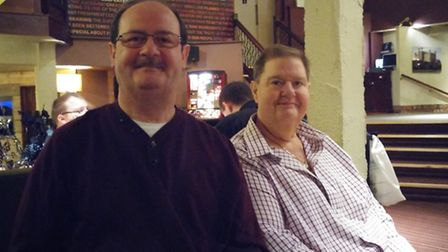 Brian and Gary Simons, pictured in February this year. Picture: Simons family