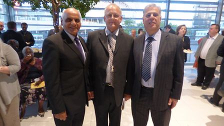 Cllr Suresh Kansagra, leader of the Conservative group, Cllr Reg Colwill, deputy and Cllr Michael Ma