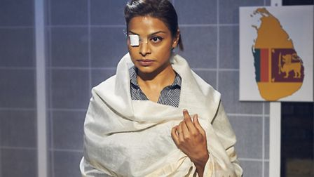 Ayesha Dharker in The Island Nation at the Arcola. Picture: Jon Holloway