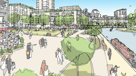 Artist sketch of the proposed development (Pic: Old Oak Park)