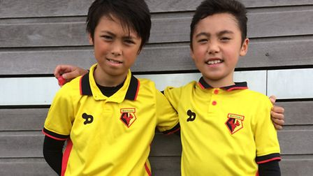 Isledon Wolves pair Frankie Phillips (left) and his brother Oscar, who are both trialling with Watfo