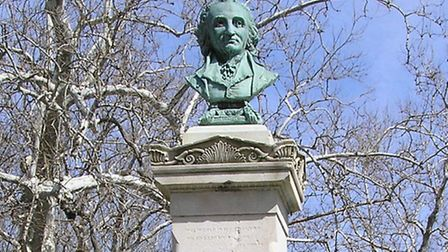 A bust of Thomas Paine in North Avenue, New Rochelle, New York. Picture: Anthony22/Wikimedia Commons